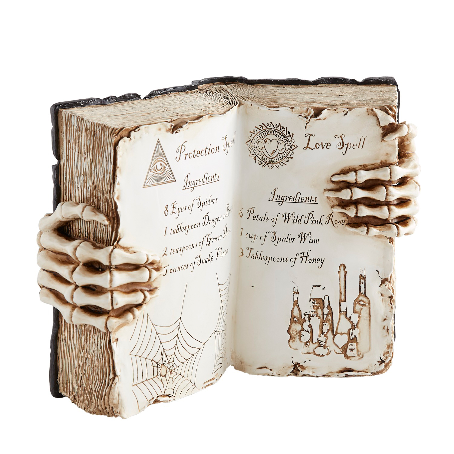Hand-Painted Halloween Witch's Spell Book