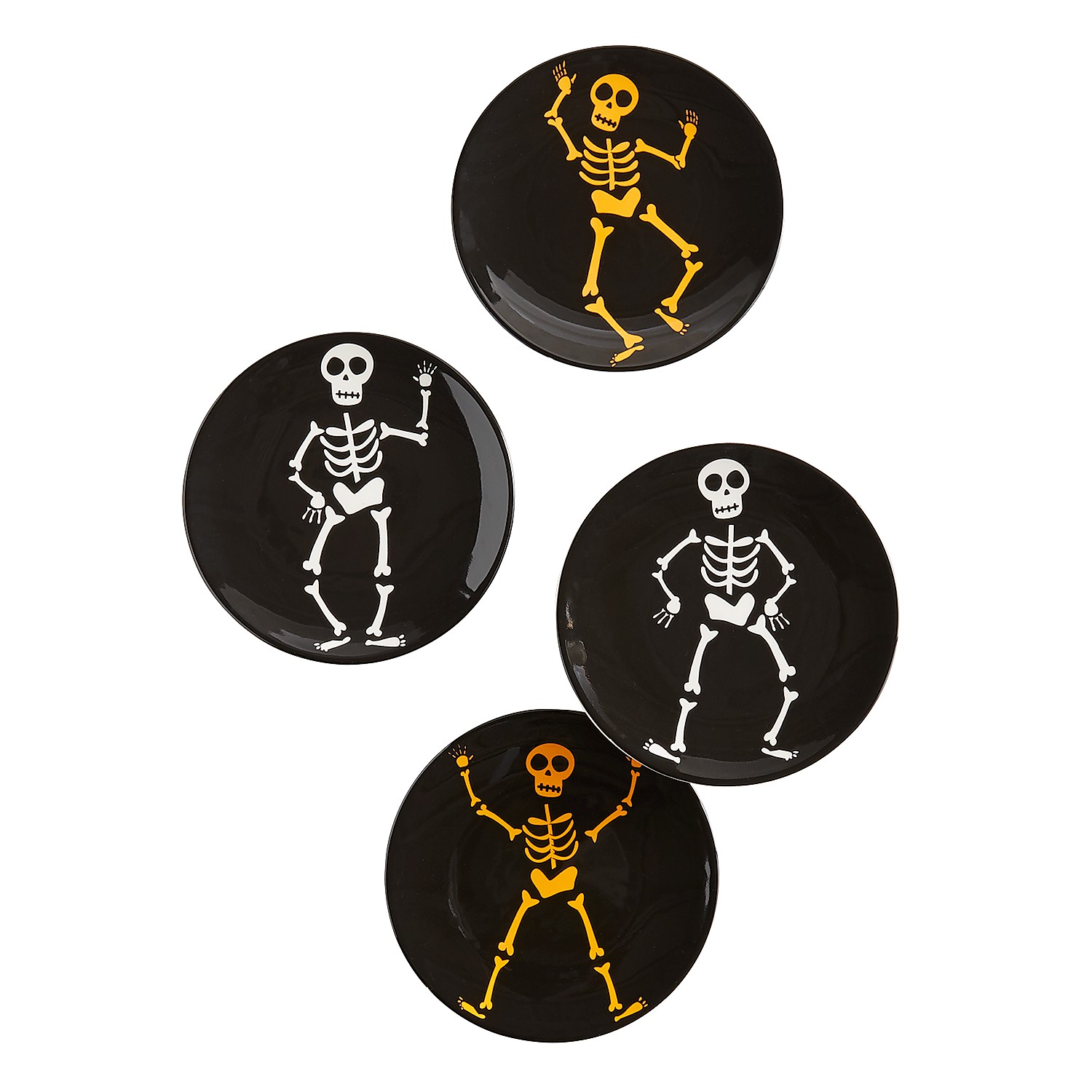 Skeleton Appetizer Plate Set