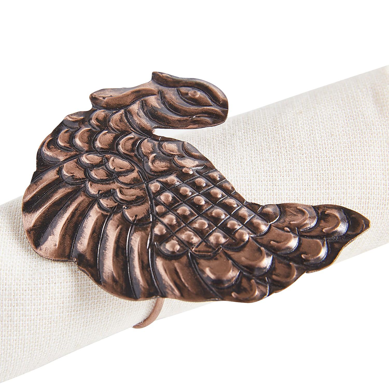 Copper Turkey Napkin Ring