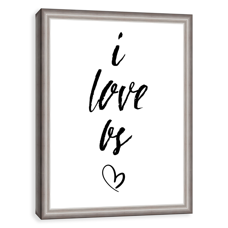 I Love Us Framed Canvas Wall Art
