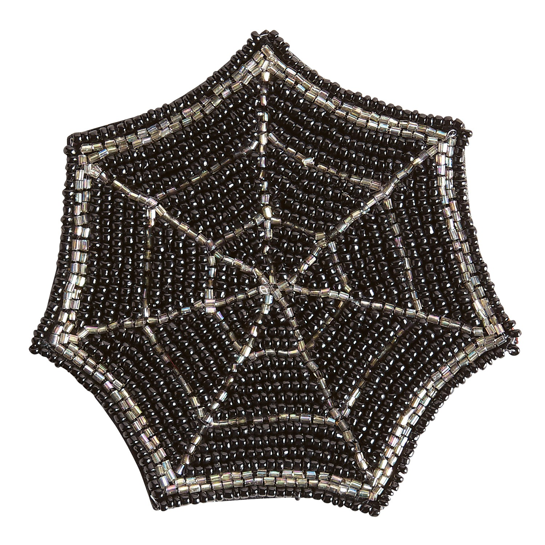 Halloween Spider Web Beaded Coaster