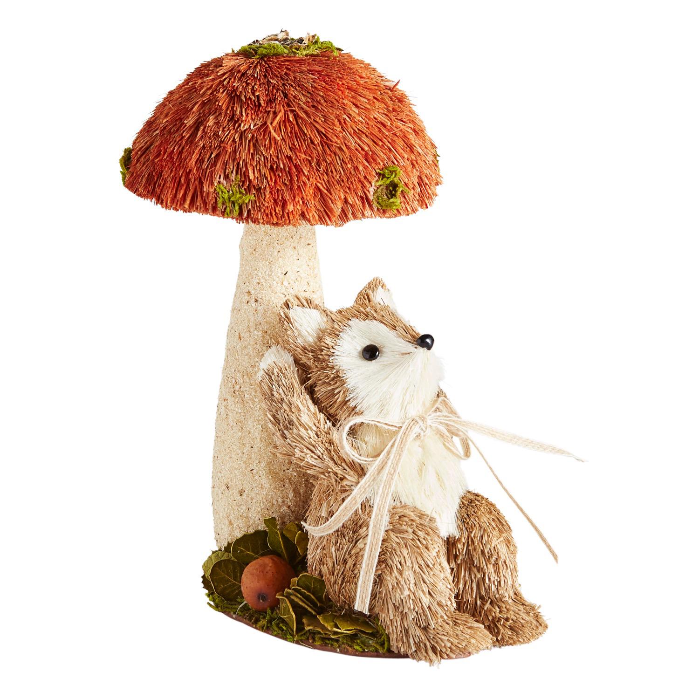 Natural Sisal Fox Under Mushroom