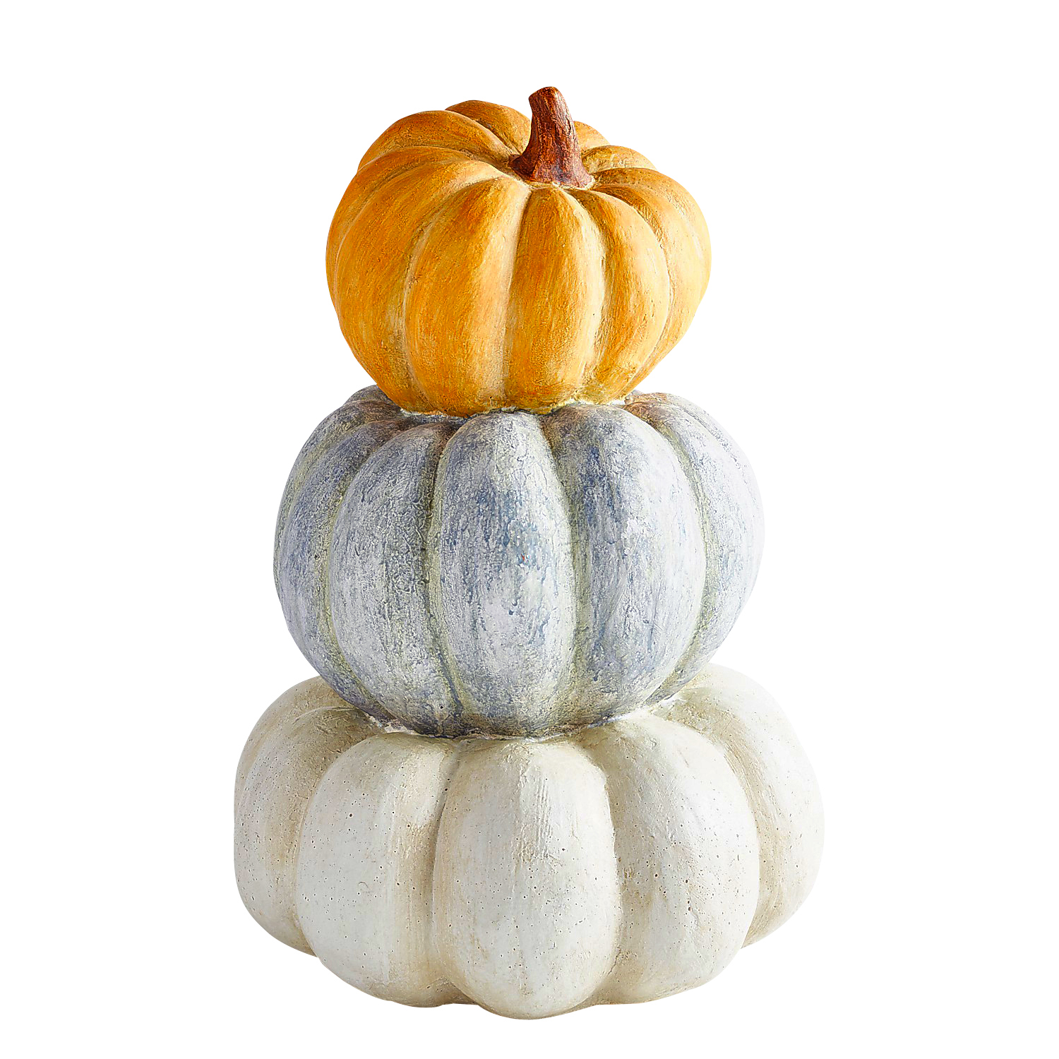 Large Stacked Resin Pumpkins