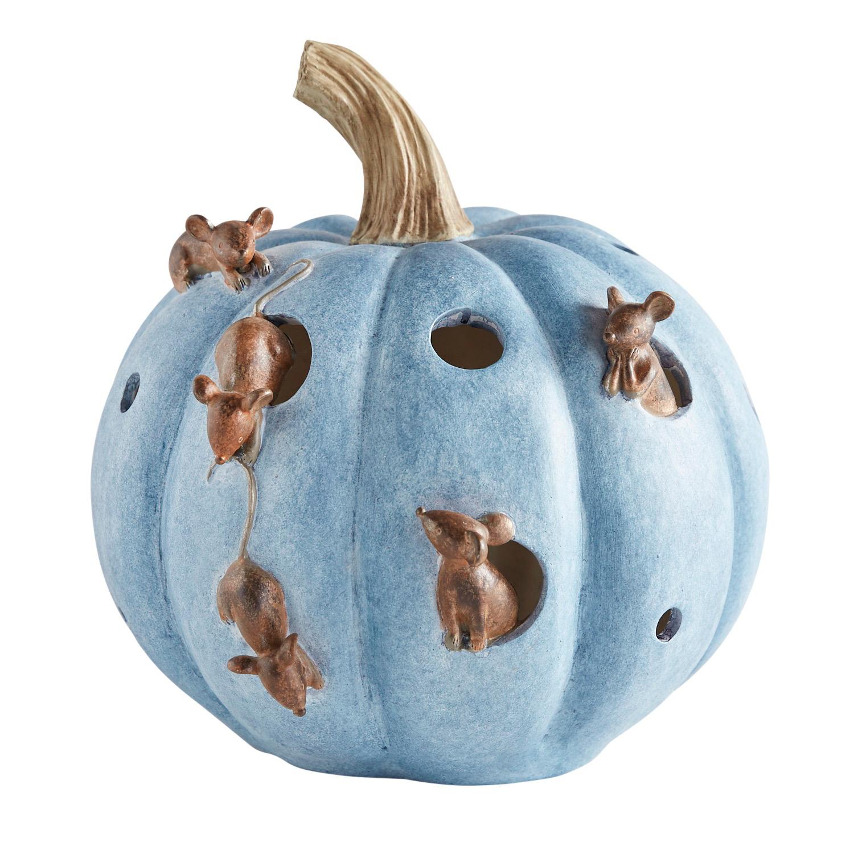 Blue Pumpkin with Mice
