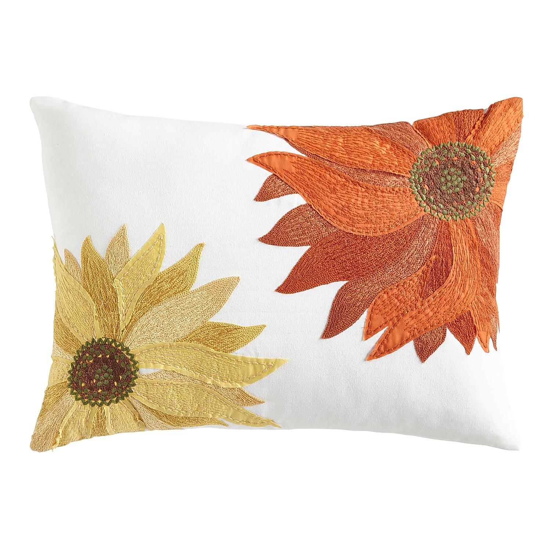 Sunflowers Multicolor Lumbar Pillow