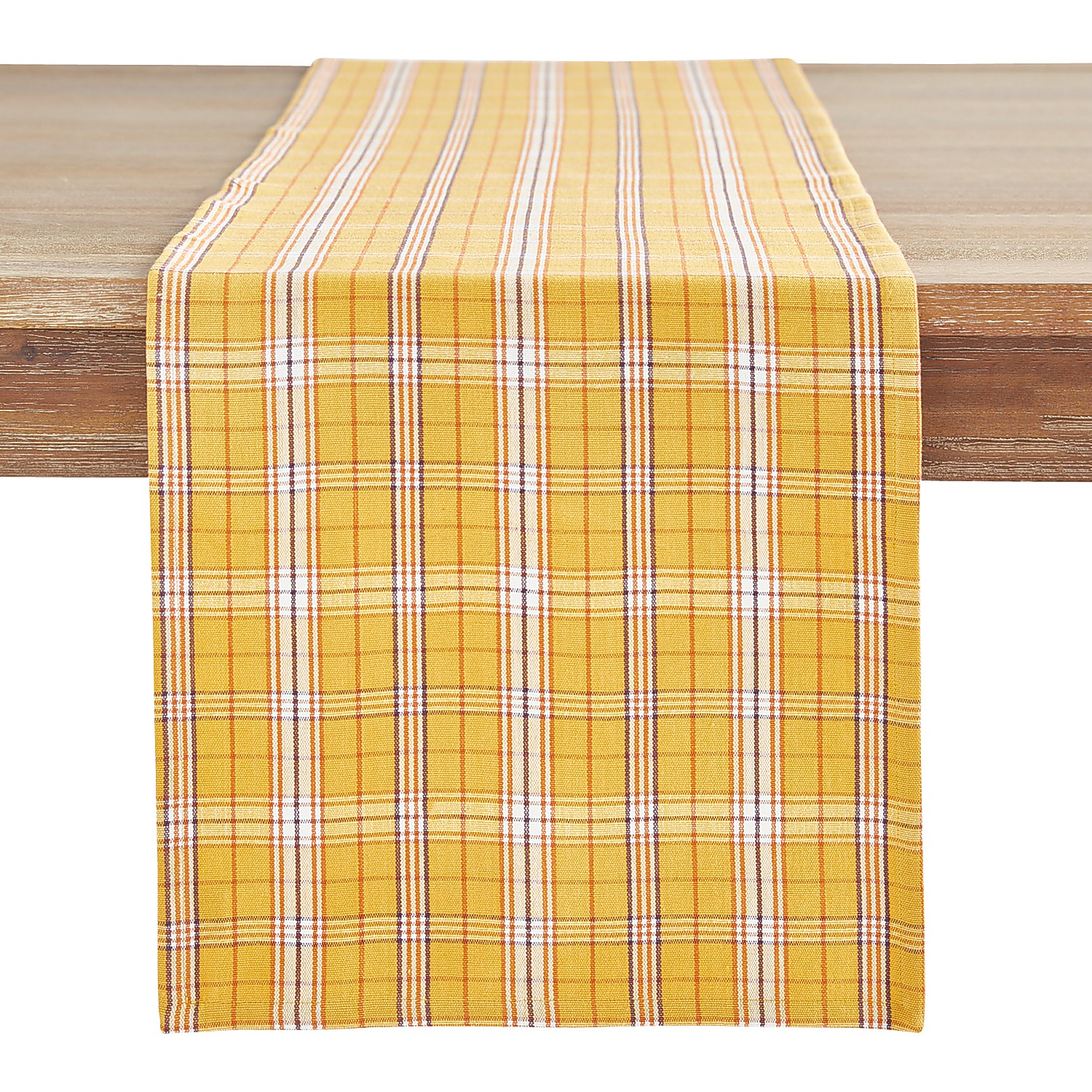 "72"" Field Plaid Table Runner"