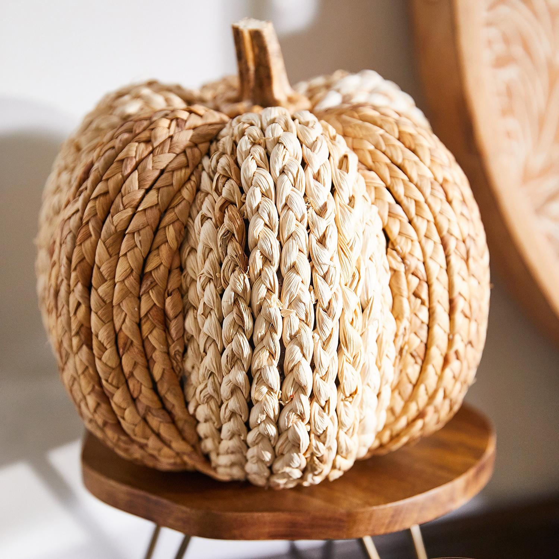 Natural Woven Pumpkin