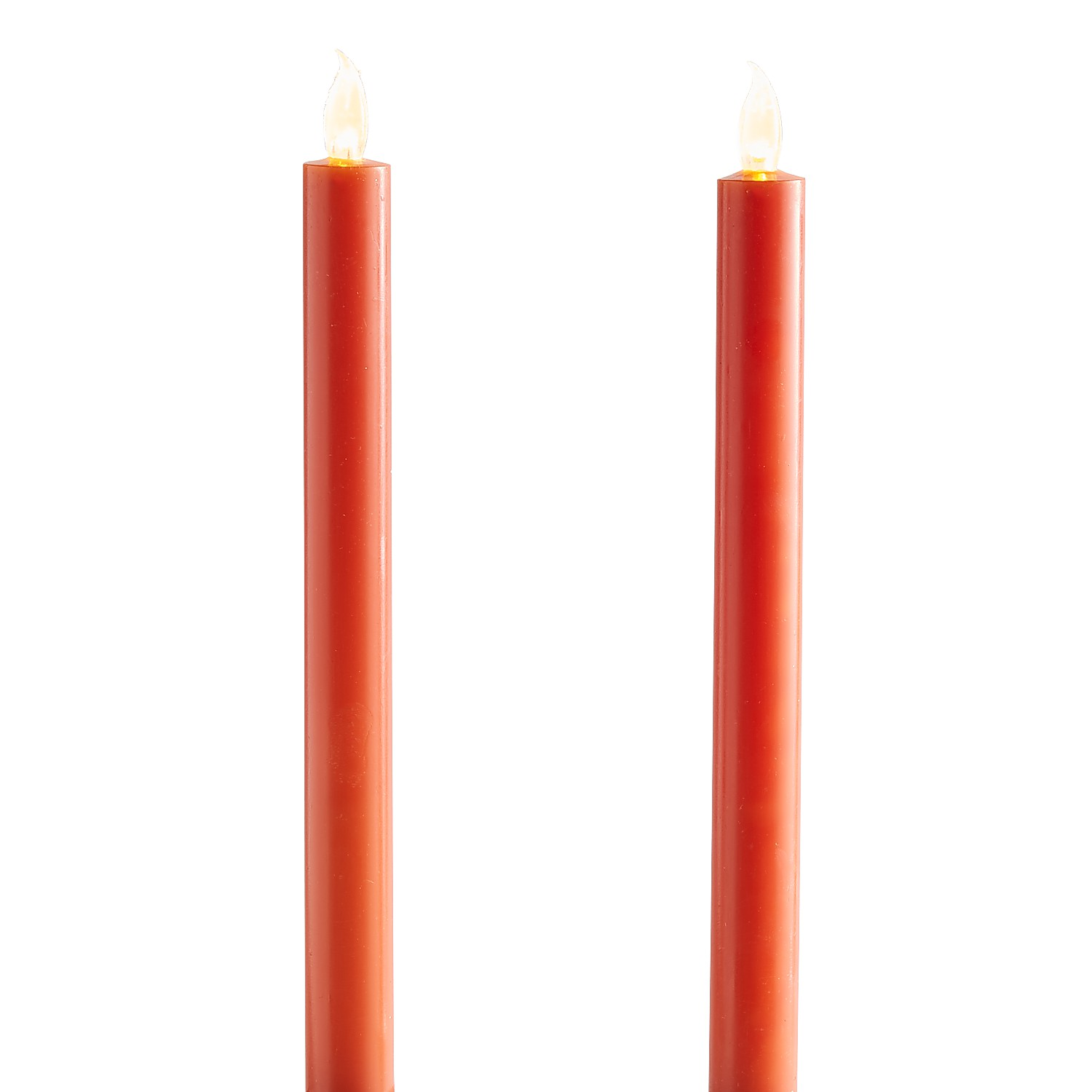 variation thumbnail of Harvest Fall Orange LED Taper Candles Set of 2