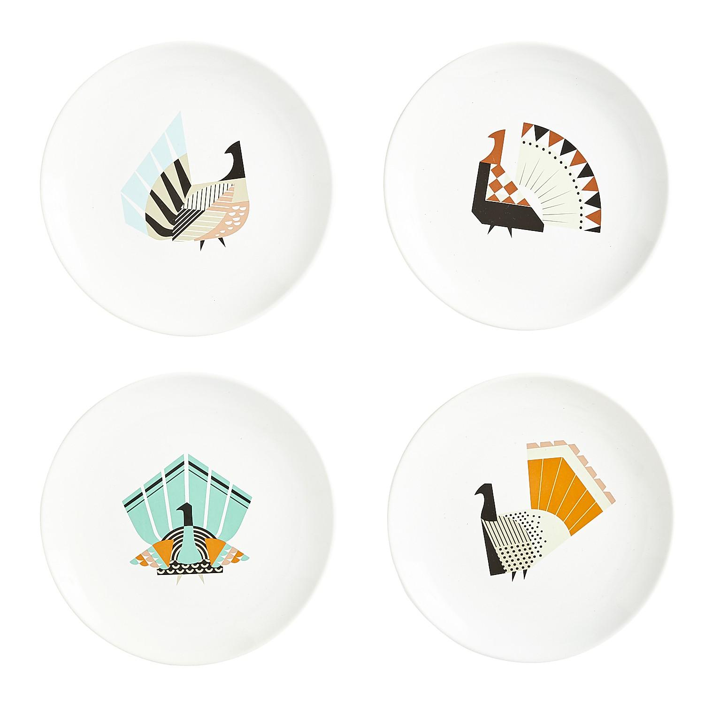 Modern Turkey Salad Plate Set