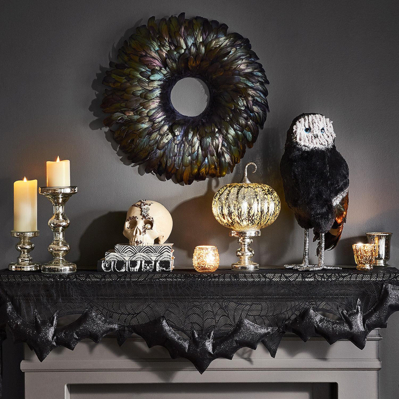 LED Light-Up Mercury Glass Pumpkin