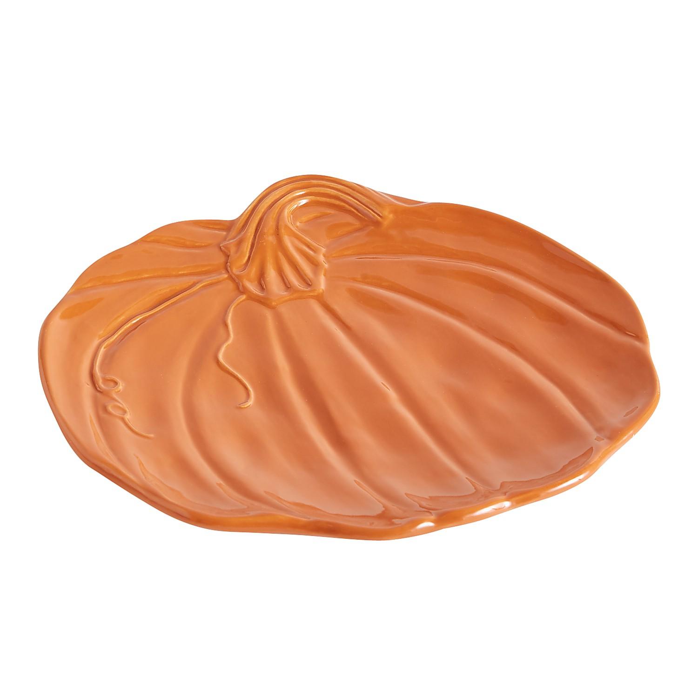 Orange Figural Pumpkin Salad Plate