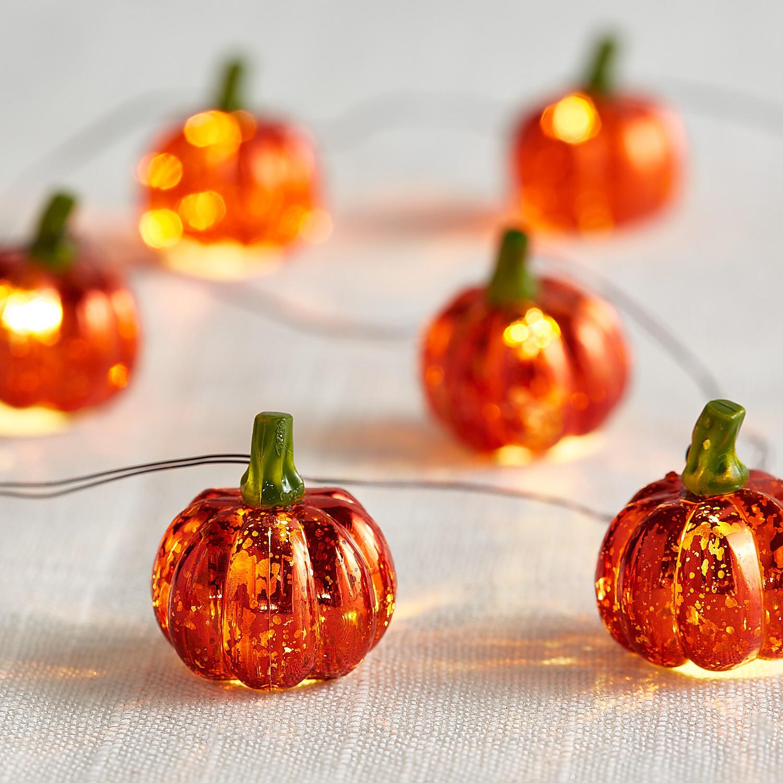 Halloween Pumpkin 5' LED Glimmer Strings®