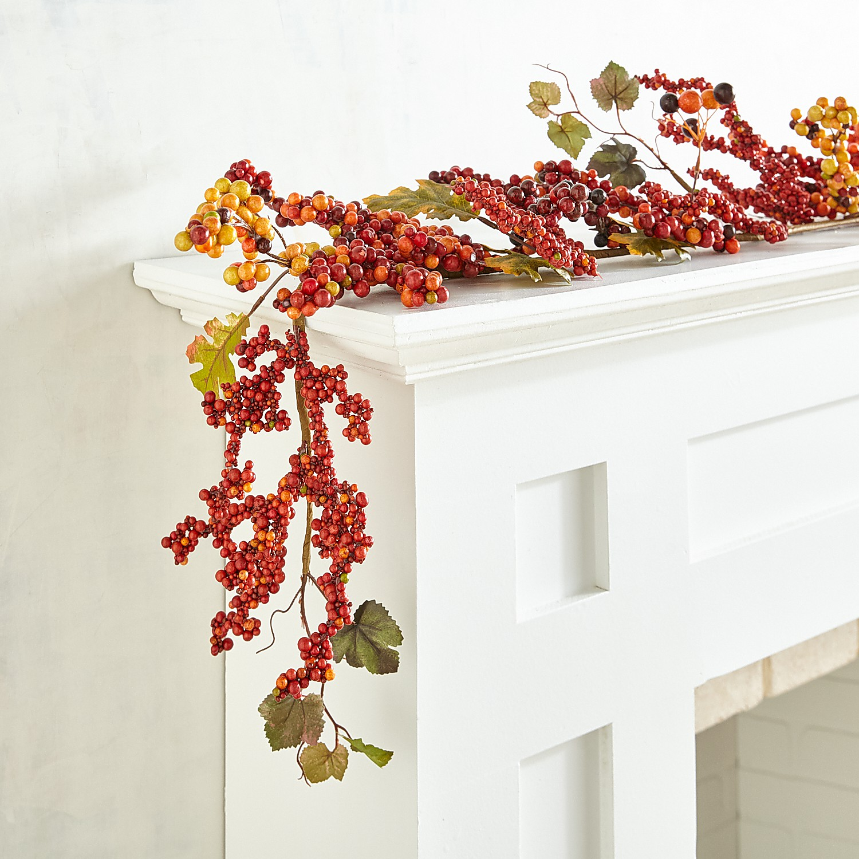 Fall Faux Berries 6' Garland