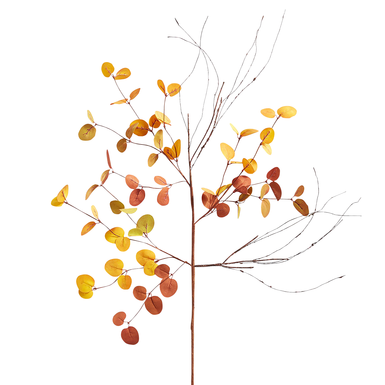 Orange & Yellow Faux Eucalyptus Stem
