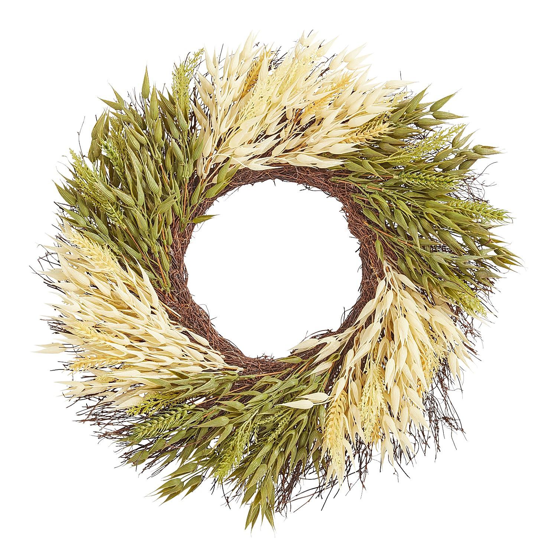 "20"" Wheat Color Block Wreath"