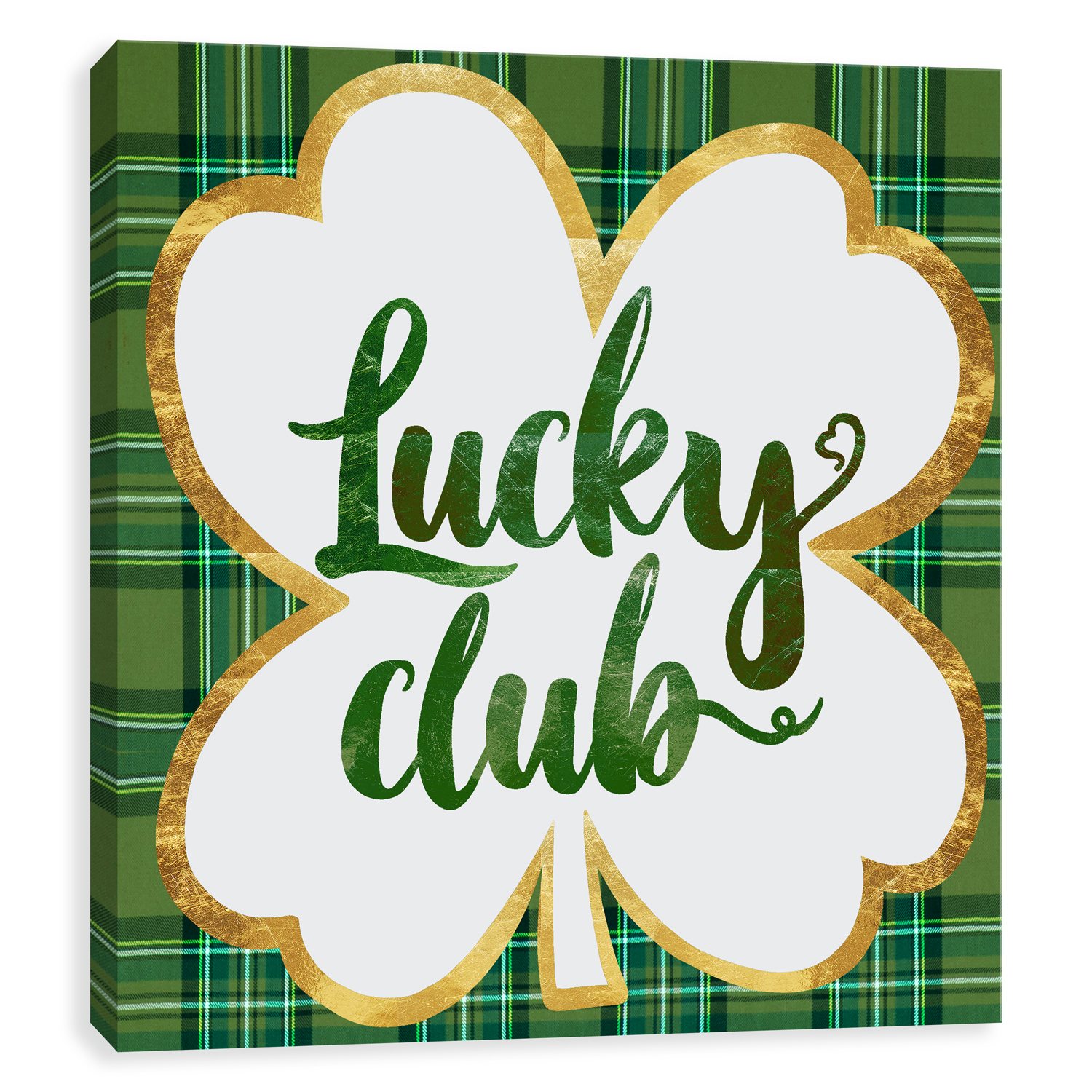 Lucky Club Hand Embellished Canvas Wall Art