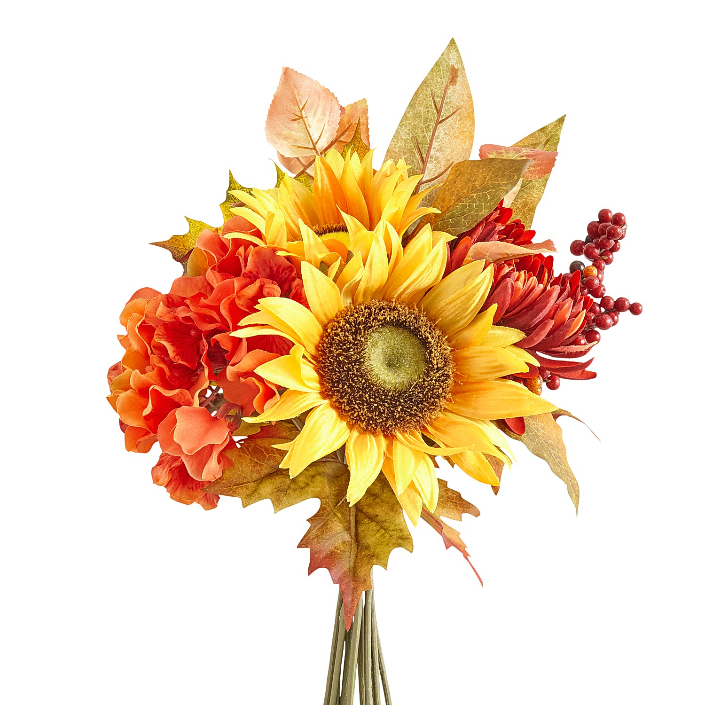 Fall Faux Sunflowers & Leaves Bundle
