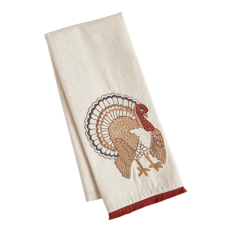 Embroidered Turkey Tea Towel