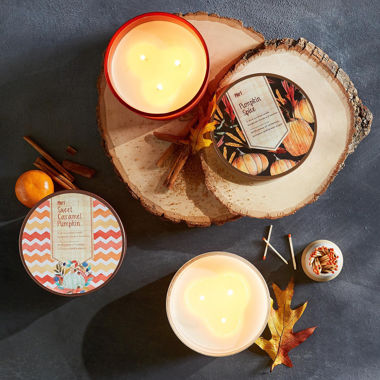 Sweet Caramel Pumpkin Filled 3-Wick Candle