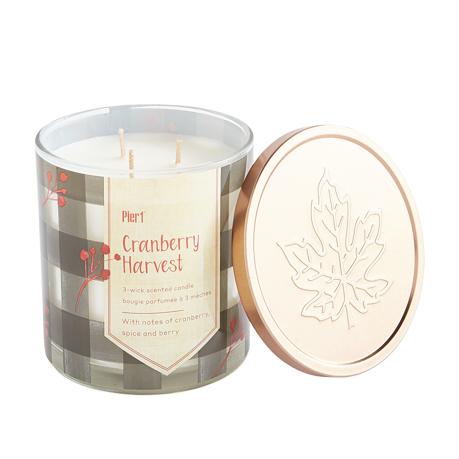 Cranberry Harvest Filled 3-Wick Candle