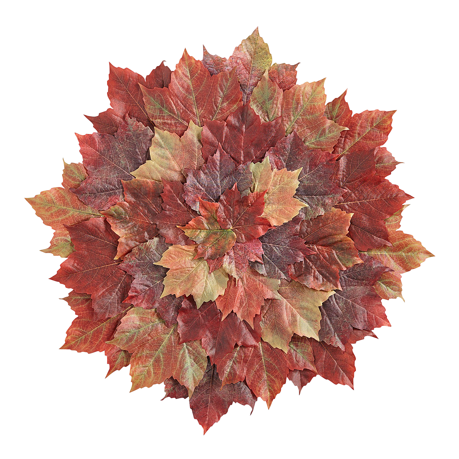 Faux Fall Leaves Placemat