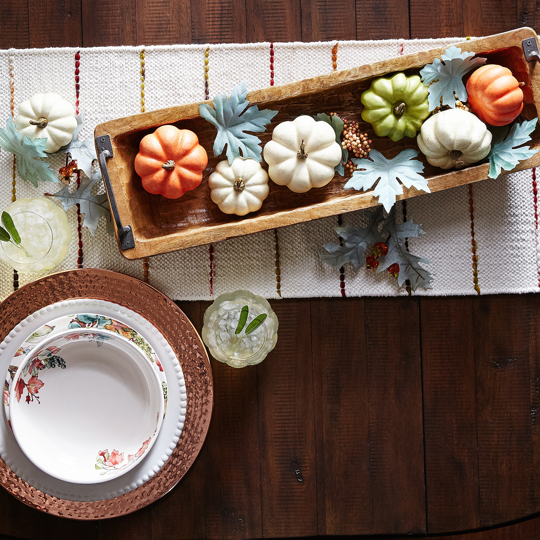 Fall Teal Mixed Pumpkins & Berries Bowl Filler