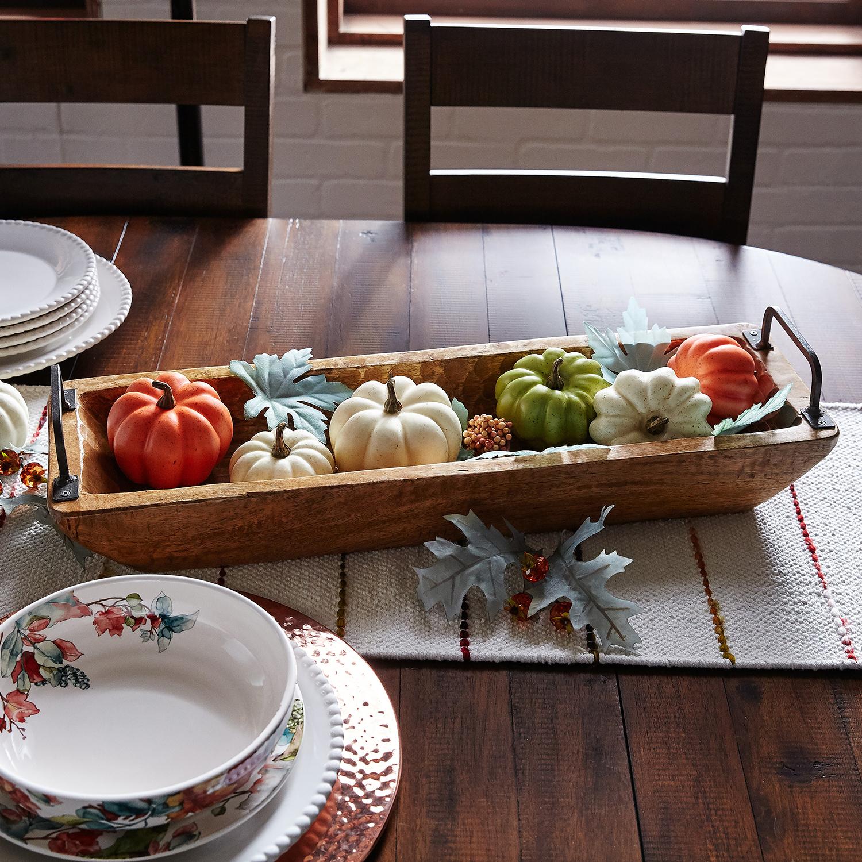 Fall Pink Mixed Pumpkins & Berries Bowl Filler