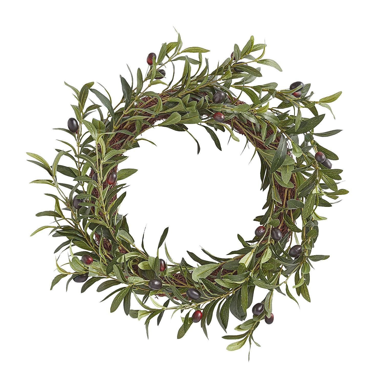"""22"""" Faux Olive Leaves & Foliage Wreath"""