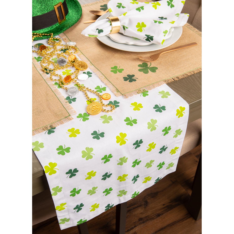 "St. Patrick's Day Irish Luck Green 72"" Table Runner"