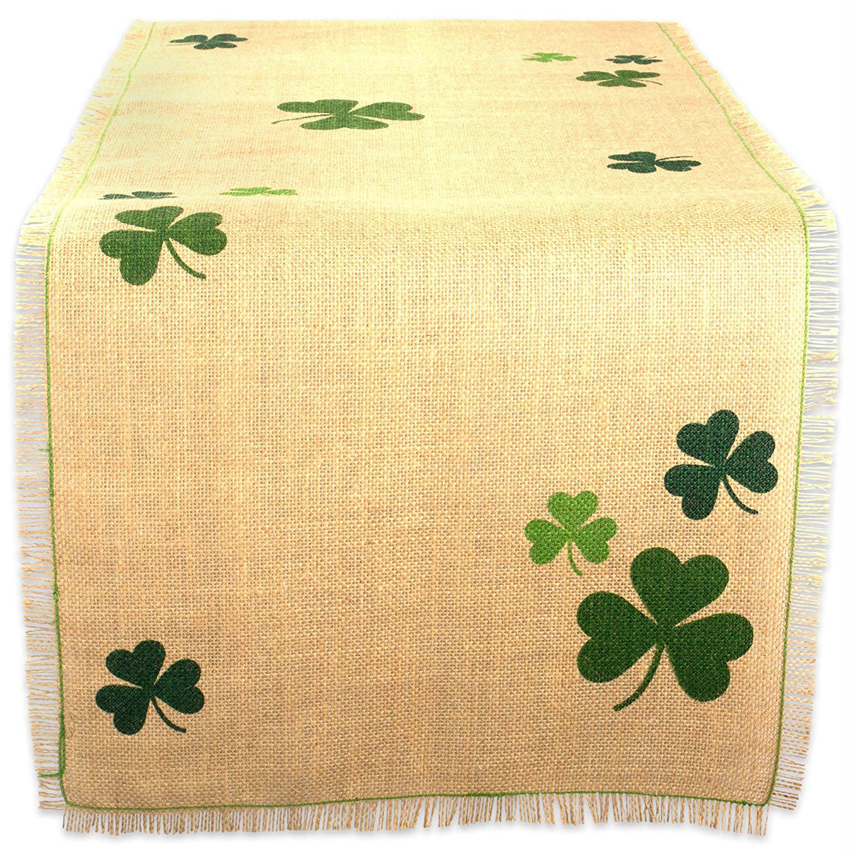 "Luck of the Irish Green 74"" Table Runner"