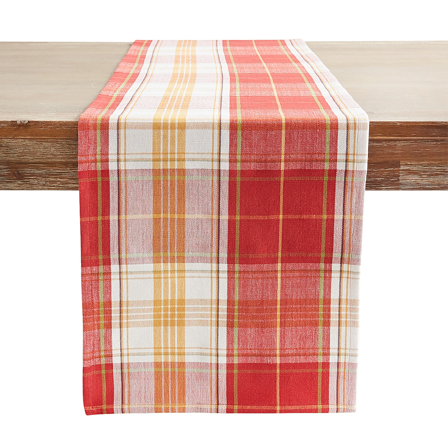 """72"""" Orchard Plaid Table Runner"""