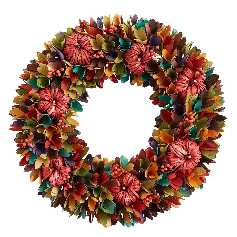 "19"" Multicolor Wood Curl Wreath"