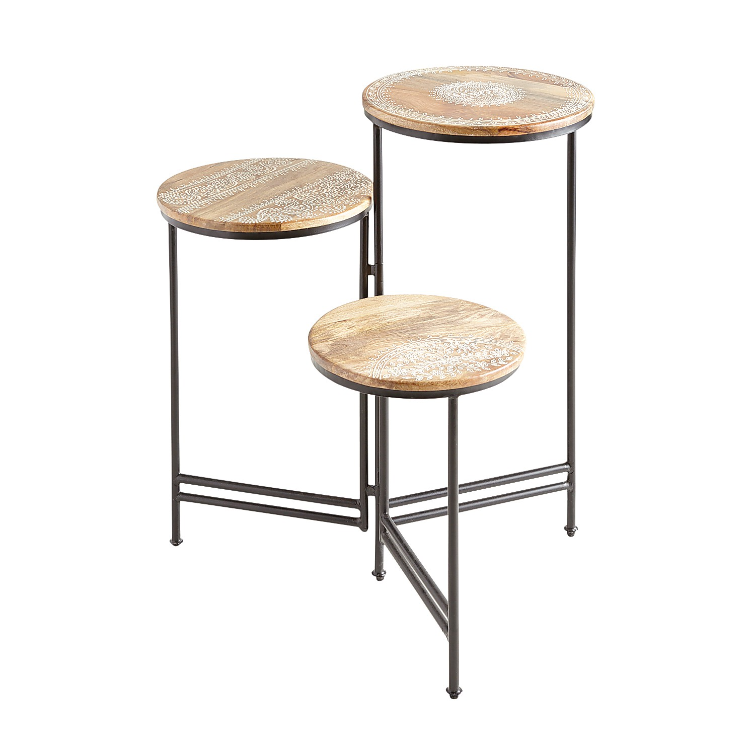 Henna 3-Tier Accent Table