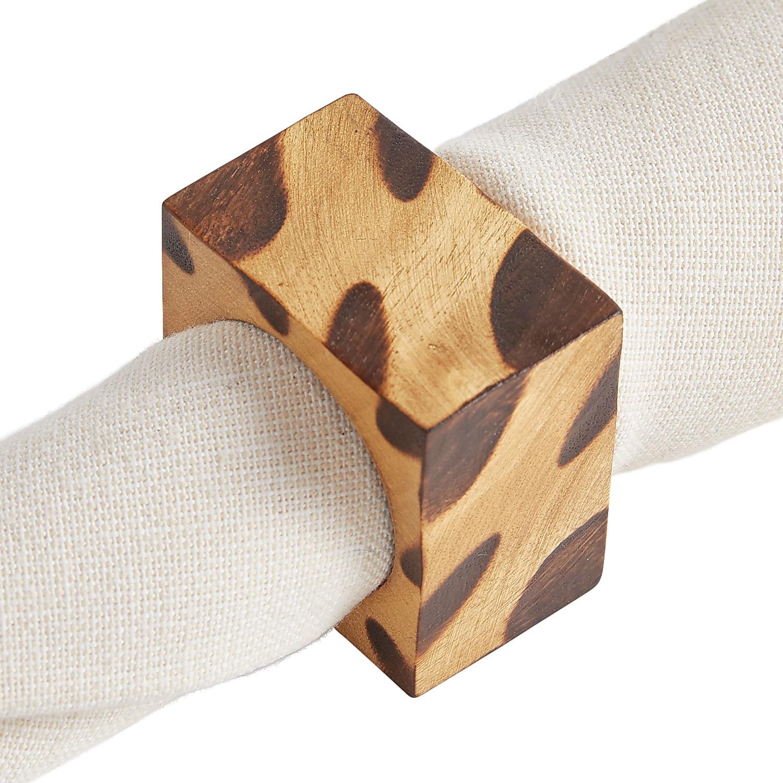Leopard Square Napkin Ring