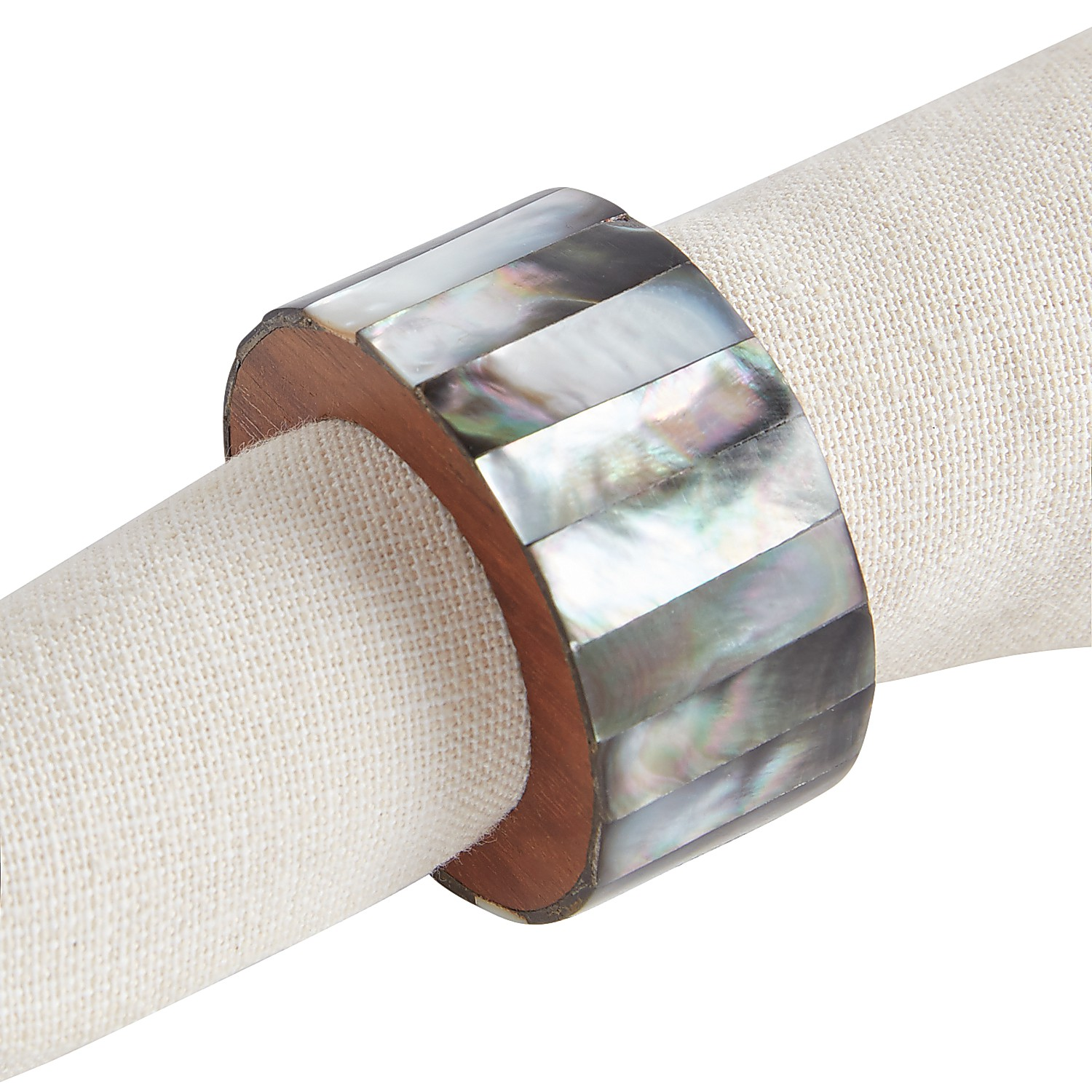 Charcoal Mother-of-Pearl Napkin Ring