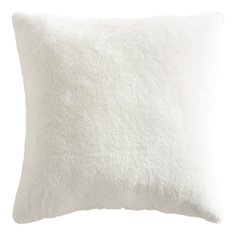 Oversized Bristol Faux Fur Ivory Pillow