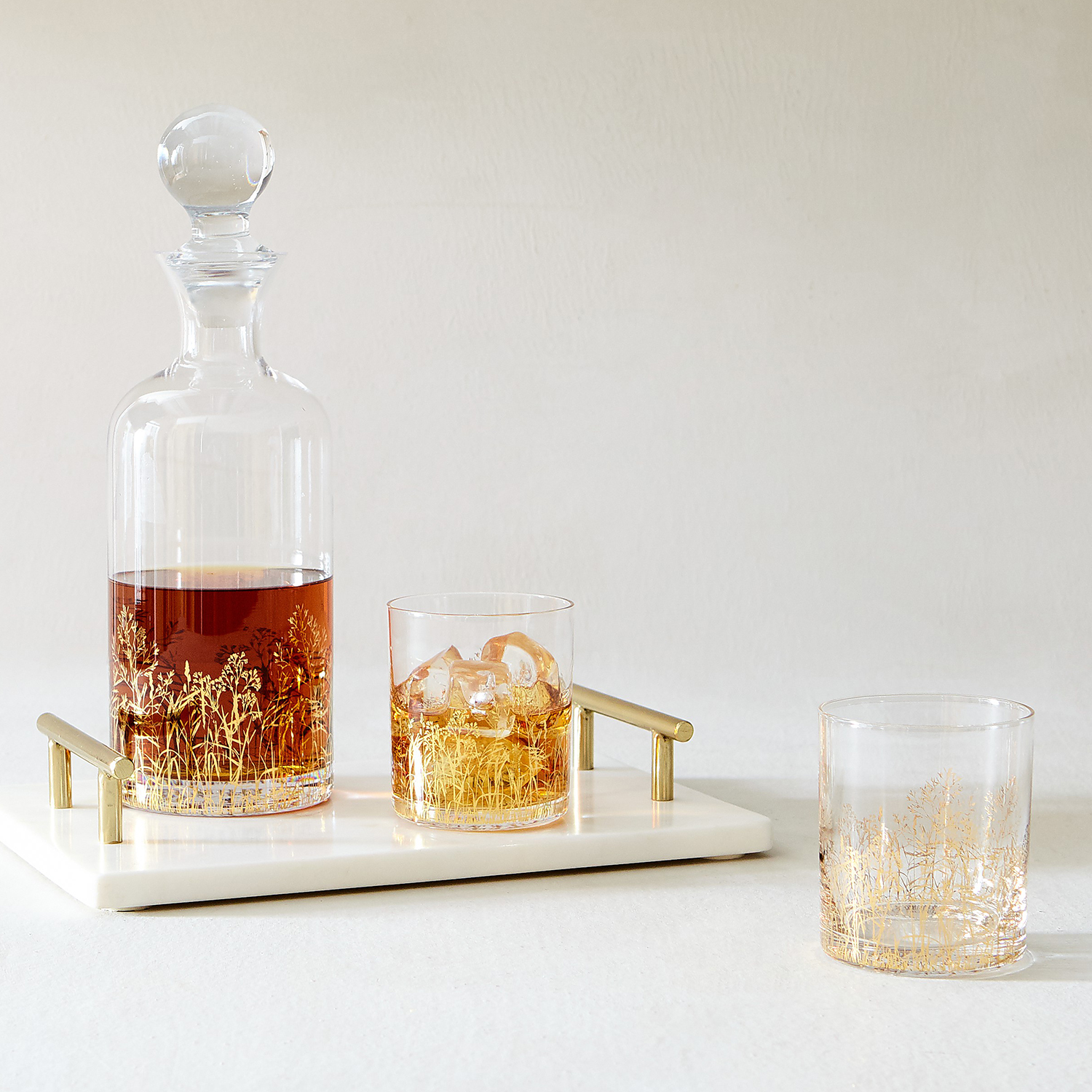 Manor Gold Foil Decanter