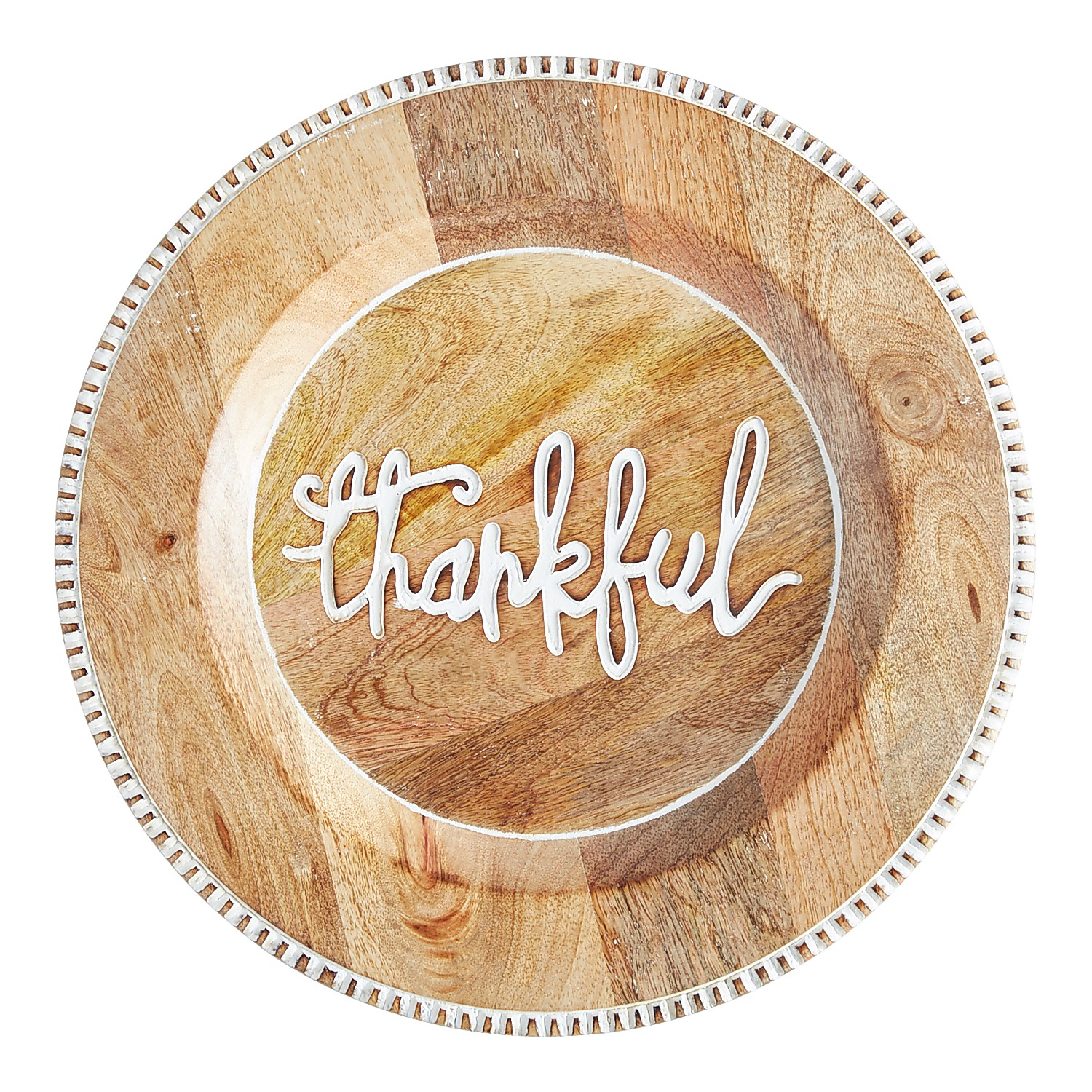Thankful Script Charger Plate