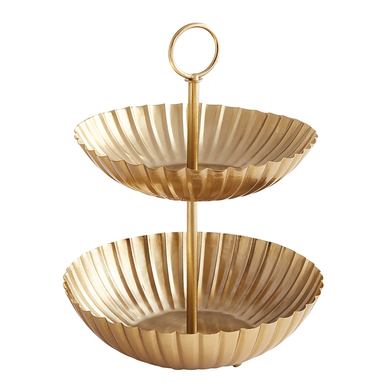 Scalloped Gold  2-Tiered Server