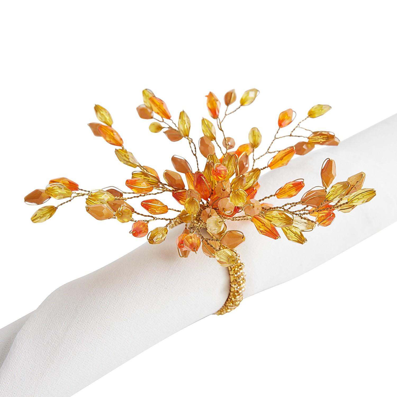 Amber Spray Napkin Ring