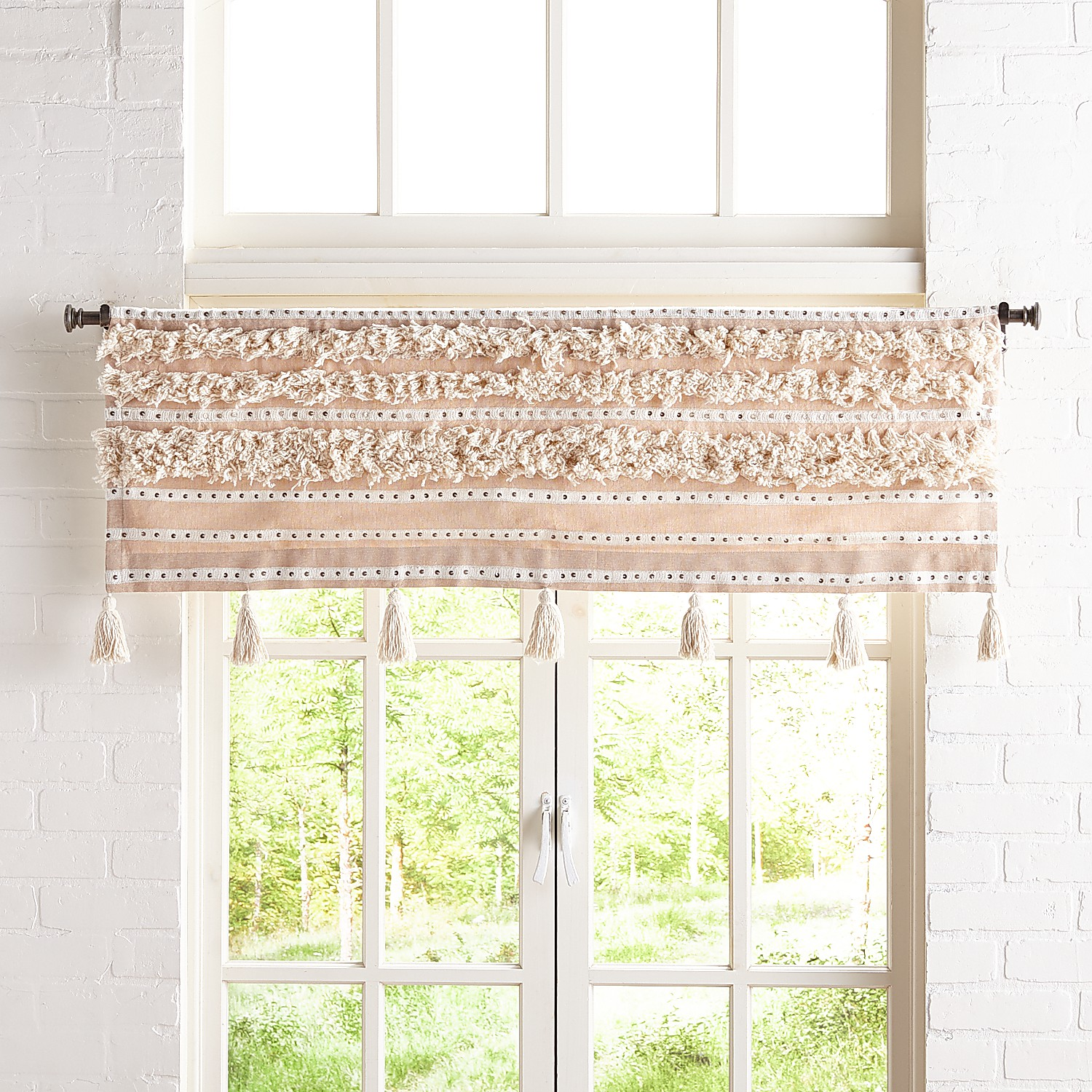 Moroccan Valance with Tassels