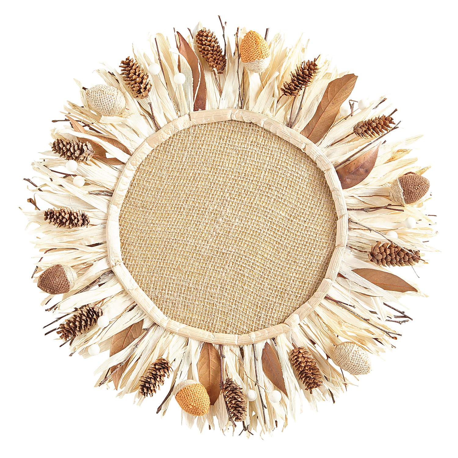Corn Husk Pinecone Charger Plate