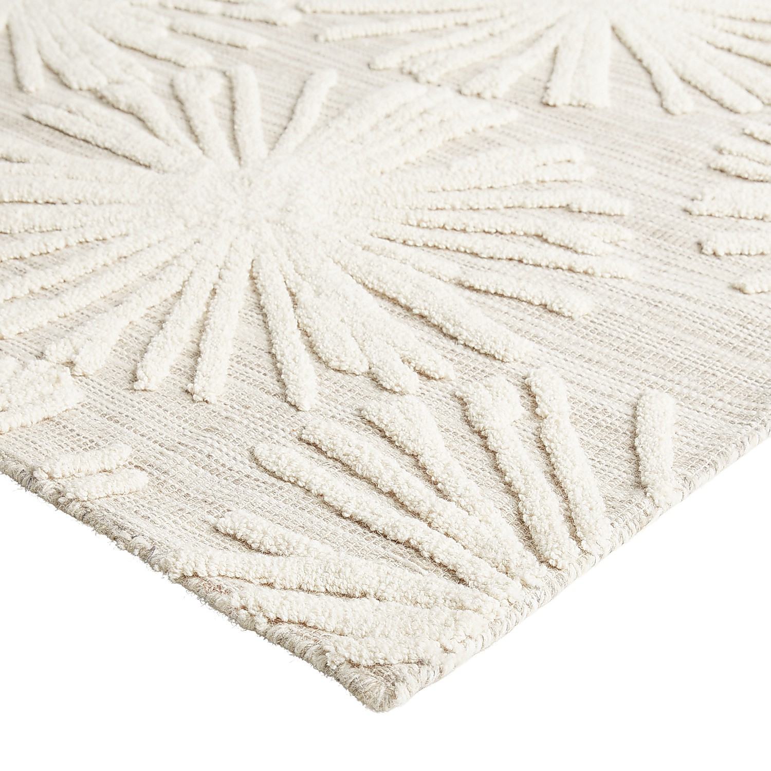 variation thumbnail of Ivory Starburst 5x8 Rug