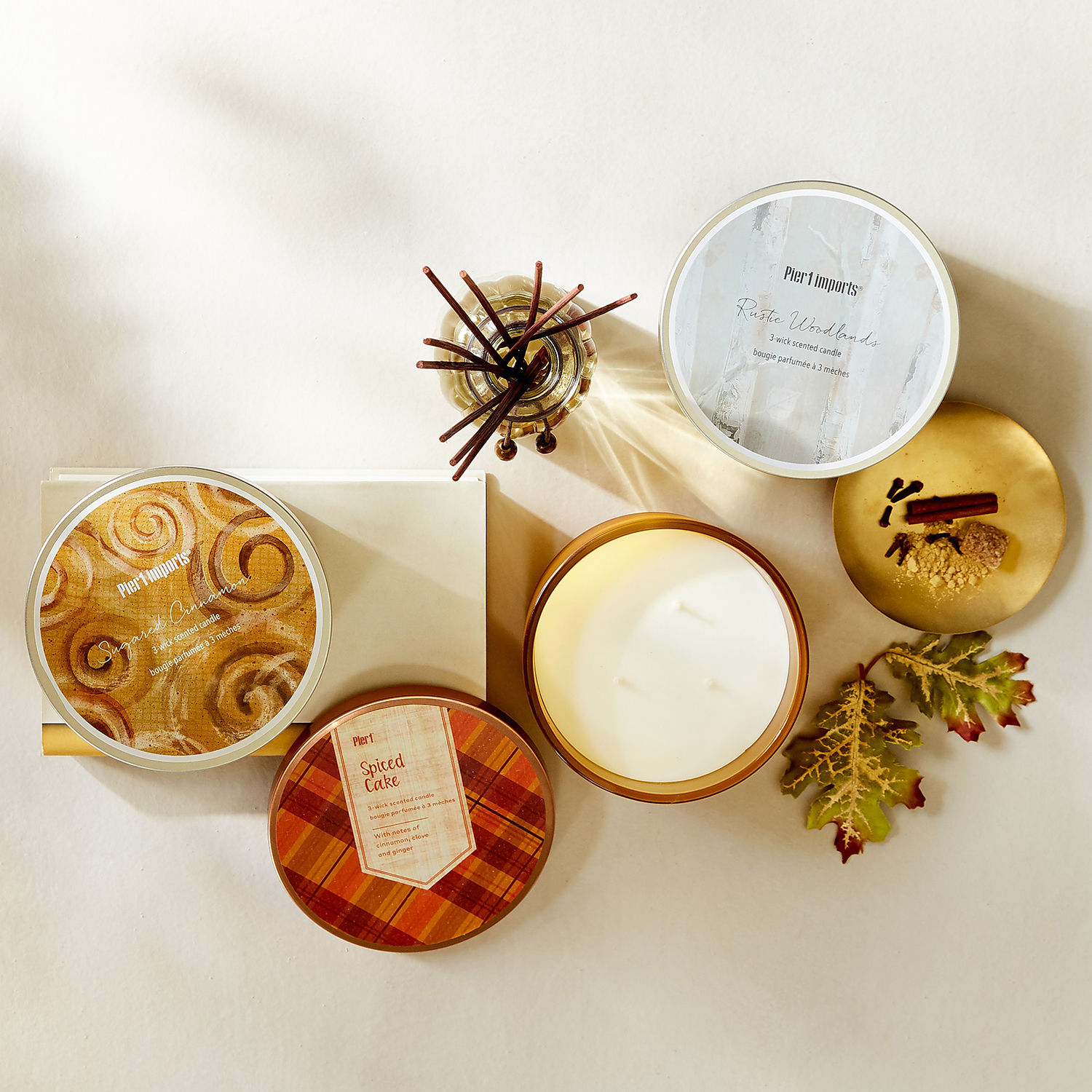 Rustic Woodlands Filled 3-Wick Candle