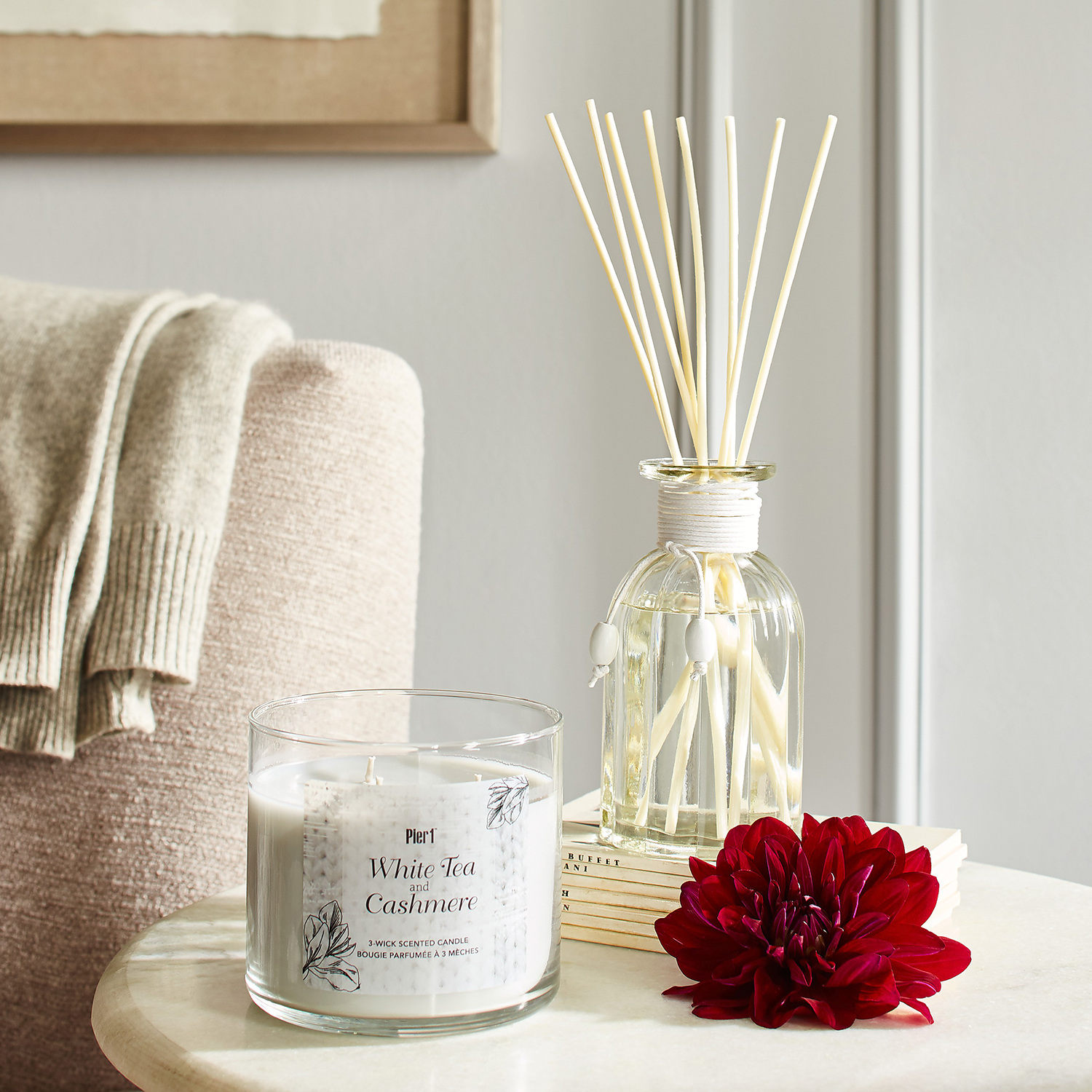 White Tea & Cashmere Filled 3-Wick Candle