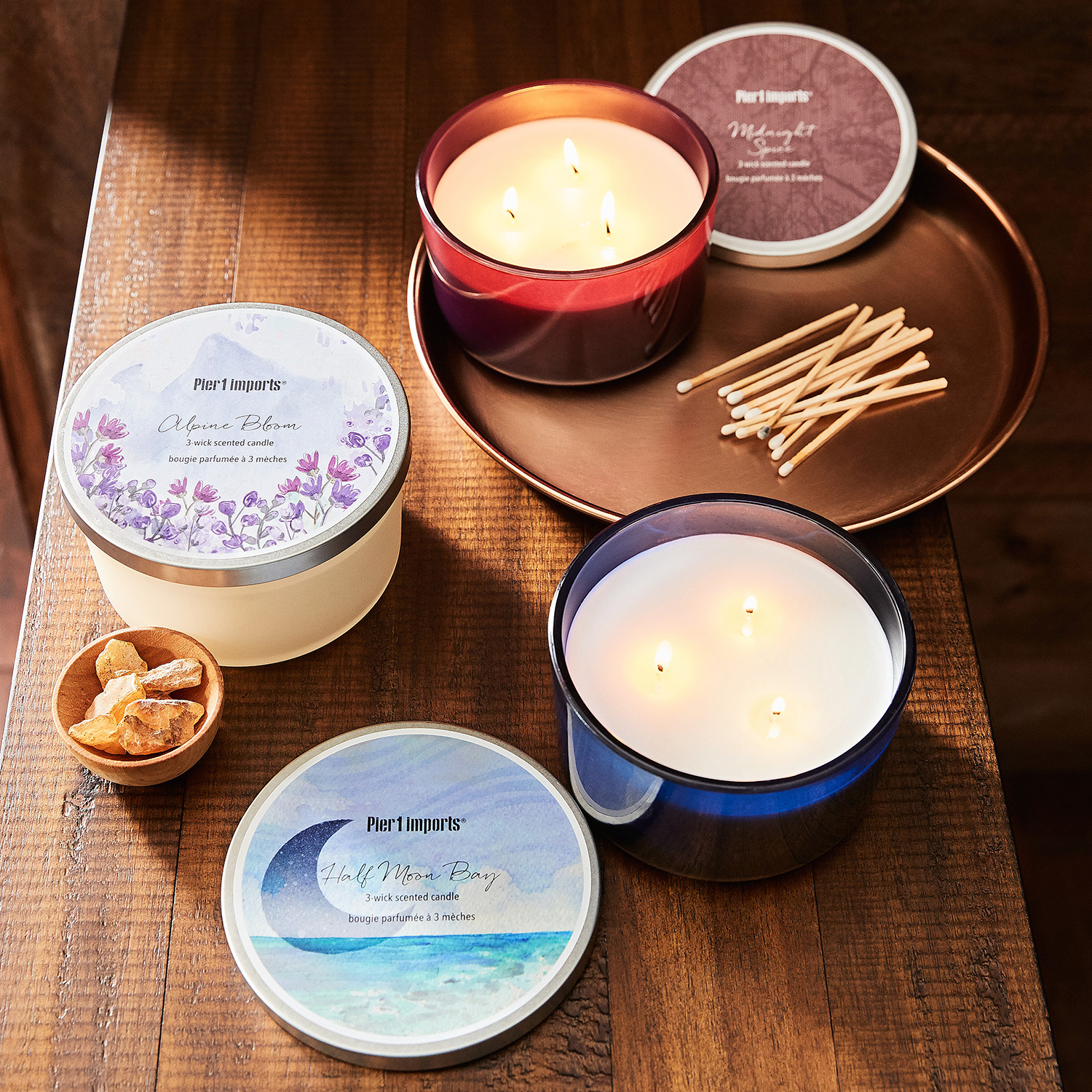 Half Moon Bay Filled 3-Wick Candle