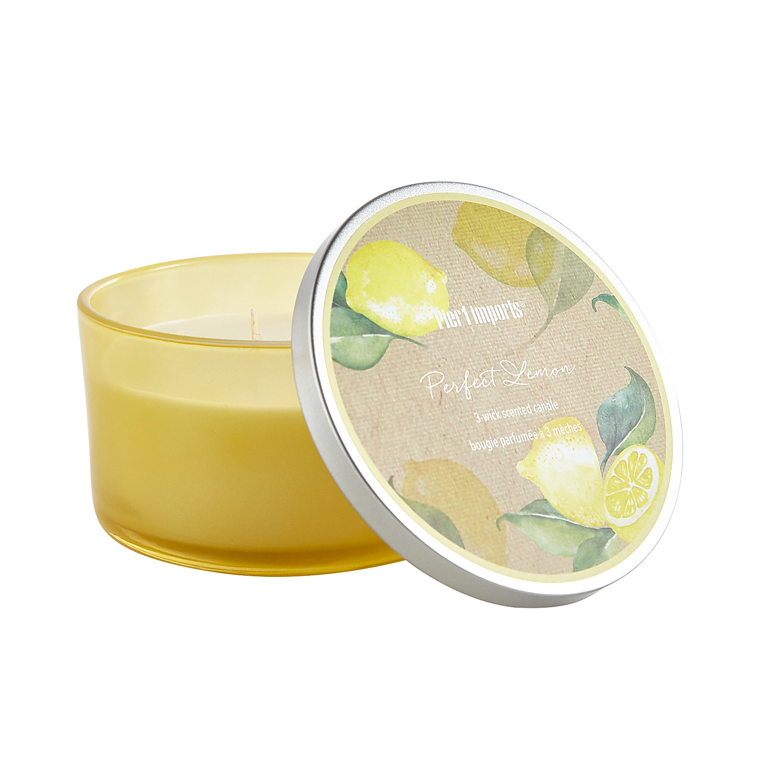 Perfect Lemon Filled 3-Wick Candle