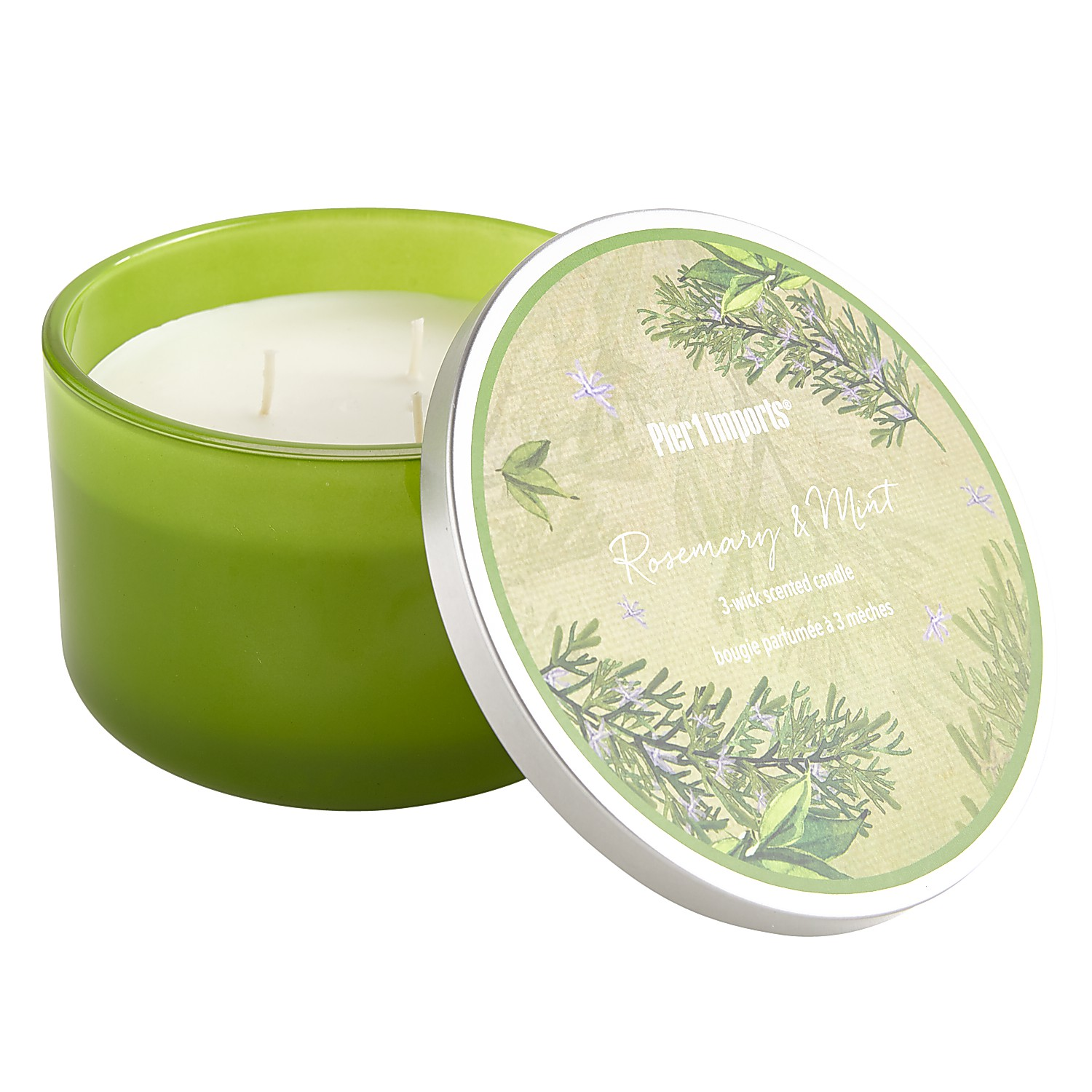 Rosemary & Mint Filled 3-Wick Candle