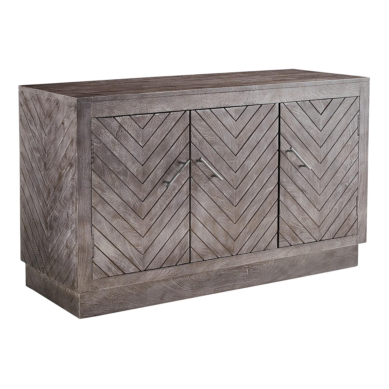 Elwood 3-Door Chevron Cabinet