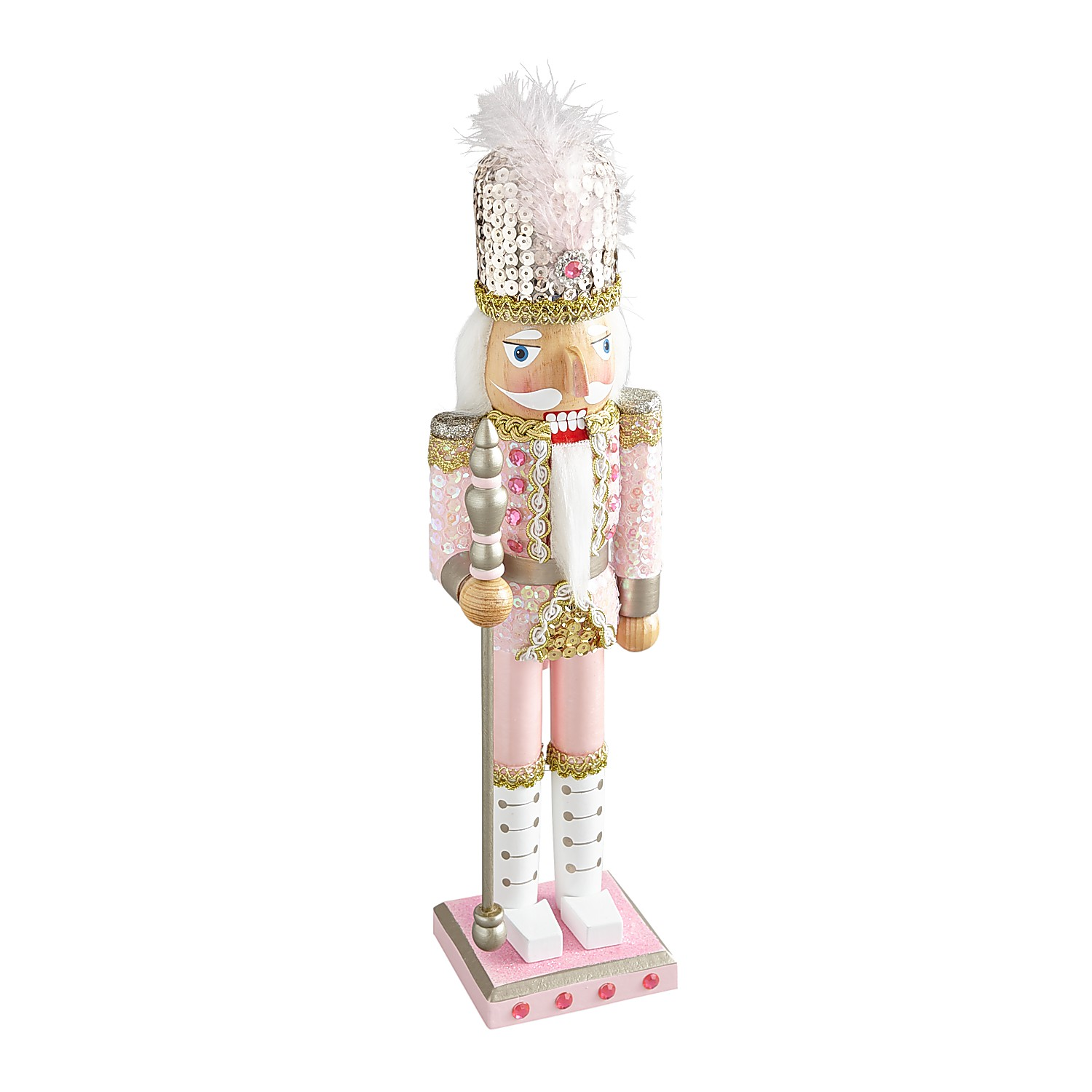 "15"" Pink Sequined Nutcracker"